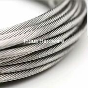 Stainless Steel T316l Cable Railing 3/16 1x19 7x19 Commercial Grade New Stock
