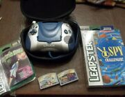 Leapster L-max Complete W/ Case 2 Games In Pkgs. And Addand039l Games Look