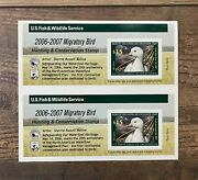 Rw73a 2006 - 2007 - Us Federal Duck Stamp - Imperf Pair