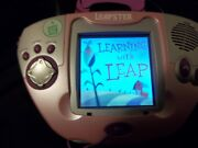Leapster Pink Multimedia Learning System W/ Screen Cover And 6 Smartridges Nice