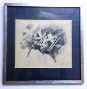 Charles Bragg Guaranteed Original Charcoal And Graphite Sketch 1961 Provenance Wow