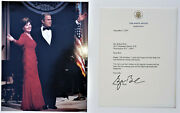 George W. Bush Hand-signed 2001 White House Letter And Photo Political Collectible