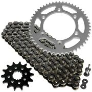 Black Drive Chain And Sprocket Kit For Yamaha Yz250 Yz250x 1999-2018