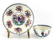 Royal Worcester Dr. Wall Porcelain Cup And Saucer C1760 Rare Chinoiserie Decor