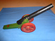 Scarce Vintage Wooden Toy Cannon Tom Thumb Toys By Jacrim Mfg. Of Boston