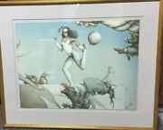 Michael Parkes Last Circus Stone Lithograph Framed 70/200