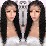 Pre Plucked Deep Curly 13x6 Deep Lace Front 8a Virgin Remy Human Hair Full Wigs