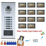 11 Monitor Video Door Phone Intercom System Wired Wifi 11 Apartment/family Rfid