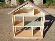 Large Custom Doll House, Hand-crafted And Painted, Signed, Intricately Detailed