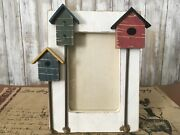 """Birdhouse 3-d Picture 4""""x6"""" Photo Frame Wood Nwot"""