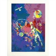 Satellite Football By Leroy Neiman - A Limited Edition Serigraph On Paper