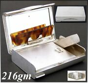 Vintage Italian .800 Nearly Sterling Silver Minaudière, Compact, Art Deco