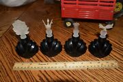 Vintage Perfume Bottles Set Of 4 Satin Frosted Glass Animal Shape Stoppers