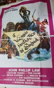 Old Vintage Hollywood Movie Poster Golden Voyage Of Sinbad From Italy 1960