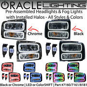Oracle Halo Headlights And Fog Lights For 05-07 Ford F250 Excursion All Colors