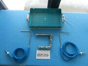 Pilling Microfrance Surgical Ent Laryngoscopes W/ Fiber Optic Cord And Case