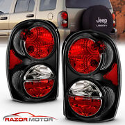 2002-2005 Replacement Black Tail Light Pair Set For Jeep Liberty Left + Right