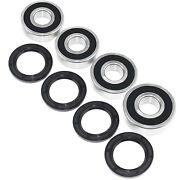 Suzuki Lt-a 400 Eiger 24 Atv Bearings And Seals Kit Both Sides Front Wheels 02-07