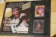 Lebron James Rookie Card And Plaque Sports Illustrated 1st Cover Mint