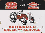 Ford Tractor And Dearborn Sales And Service Metal Sign