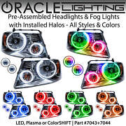 Oracle Halo Headlights And Fog Lights For 06-08 Ford F150 Mark Lt All Colors