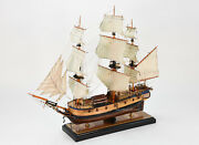 Hms Discovery 1789 Royal Navy Handmade Wooden Tall Ship Model 35 Museum Quality