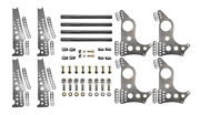 Pro Series 4-link Kit, 4130 13 Notched Brackets, 3-1/2 Axle Hole W/ Doublers