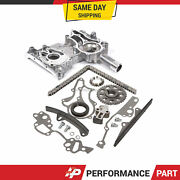 High Performance Timing Chain Kit Timing Cover For 85-95 2.4 Toyota 22r 22re