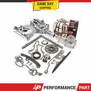 High Performance Timing Chain Kit Water Pump Timing Cover For 85-95 Toyota 22r