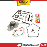 Timing Chain Kit Timing Cover Gasket Water Pump For 09-10 Dodge Chrysler 300 2.7