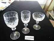 12 Pc Set Rare Waterford Curraghmore Water, Claret Wine, Tall Cmp/desert,