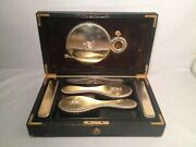 Stunning English Royalty Antique Sterling Silver Vanity Set William Traies 1894