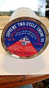 Vintage Skelly Two Cycle Oil 1 Quart Metal Can Gas Station Advertising