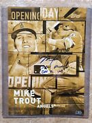 2018 Topps Mike Trout 1/1 Gold 11x14 Signed/inscribed Poster Card Mlb Hologram