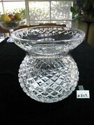 Waterford Large Centerpiece Bowl/vase 9h8 1/4w Xlnt Condition.