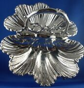 Rare Antique 1800and039s Martin Hall And Co Sheffield Silver Plated Clam Shell Tray