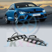 Led Daytime Running Light Drl W/ Turning Signal For Volkswagen Scirocco R 10-14