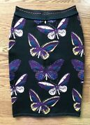 Azzedine Alaia Iconic Sexy Butterfly Vintage Skirt Size M Highly Collectible