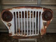 Vintage 40and039s Willys Jeep 9 Slat Grill Man Cave Wall Art Rat Rod Patina