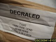 3 Rolls 150 Meters Decraled T104 14mm Oval Lead 50 Meters/roll Thermoseal