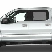 Painted Body Side Moldings With Chrome Insert For Ford F-350 Crew Cab 2017-2021
