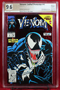 Venom Lethal Protector 1 Pgx 9.6 Nm+ Near Mint Signed Stan Lee And Bagley +cgc