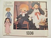 Vintage Cloth Doll Pattern_32 Boy And Girl + Doll Clothes, Shoes_vogue 1336_uncut