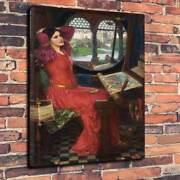 John William Waterhouse Lady Of Shallot Printed Canvas Picture Multiple Sizes