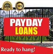 Payday Loans Banner Vinyl / Mesh Banner Sign Flag Pawn Shop Check Cashing Store