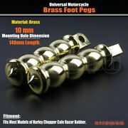 Motorcycle Brass Male Mount Foot Pegs 10mm Footrests For Harley Chopper Bobber