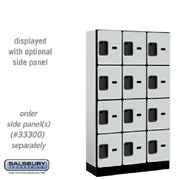 Wood Lockers - 12 Wide Four Tier Designer Commercial - 3 Wide - 6and039 High