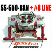 Quick Fuel Ss-650-ban 650 Mech Blow Thru Gas Annulaire -8 Rouge Ligne Kit Wow