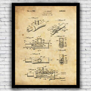 Duck Hunting Fowl Call Patent Wall Art Print Decor - Size And Frame Options