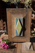 Antique Vintage Handcrafted Raised Wood Door Panel Speakeasy Green And Turquoise 9